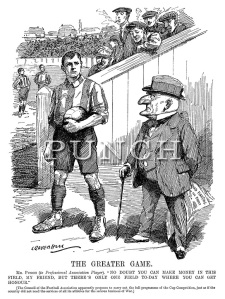 Mr Punch and Professional Football 1914