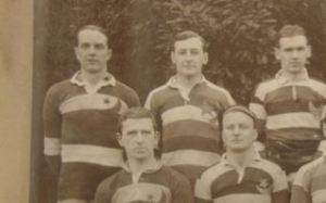 Percy Heddon  (standing, centre) in the 1912-13 Team Photo