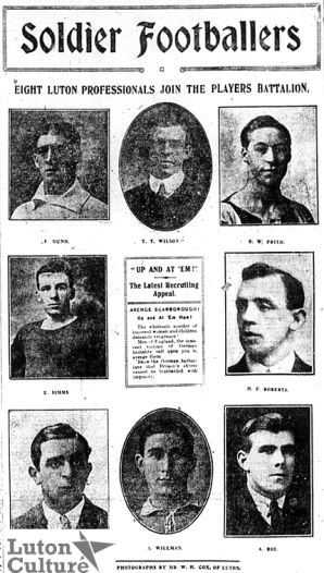 Soldier footballers - Dec 15, 1914