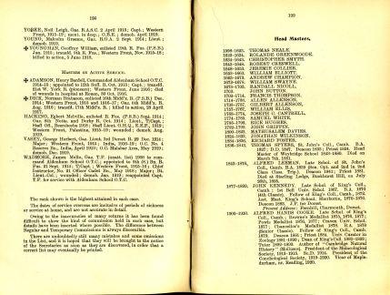 Aldenham Book of remembrance