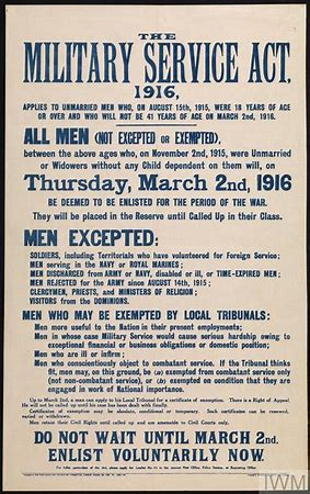 Miltary Service Act 1916