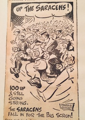Up the Saracens cartoon 4 Jan 1940